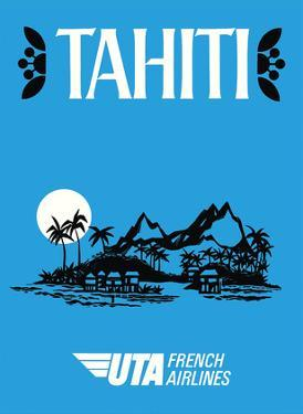 Tahiti - UTA (Union des Transports Aériens) - French Airlines by Pacifica Island Art