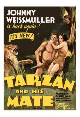 Tarzan and His Mate - Metro Goldwyn Mayer by Pacifica Island Art