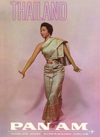 Thailand - Thai Dancer - Pan American World Airways by Pacifica Island Art