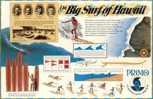 The Big Surf of Hawaii - Primo Hawaiian Beer - Hawaii Brewing Company by Pacifica Island Art