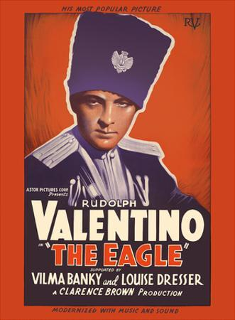 The Eagle (The Lone Eagle) - Starring Rudolph Valentino, Vilma Banky and Louise Dresser by Pacifica Island Art