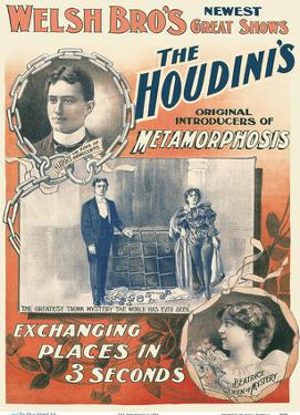 The Houdini's - Harry and Beatrice Houdini - Welsh Brothers Circus by Pacifica Island Art