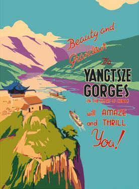 The Yangtsze (Yangtze) River Gorges by Pacifica Island Art