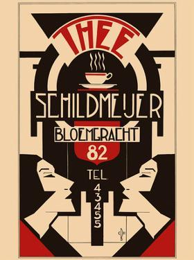 Thee (Tea) - Schildmeijer Cafe - Amsterdam, Netherlands - Art Deco by Pacifica Island Art