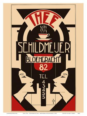 Thee (Tea) - Schildmeijer Cafe - Amsterdam, Netherlands - Art Deco by Pacifica Island Art