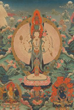 Thousand-armed Avalokiteshvara, Bodhisattva - Manjushri & Dharmaraja by Pacifica Island Art