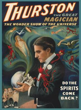 Thurston, The Great Magician - Do The Spirits Come Back? by Pacifica Island Art
