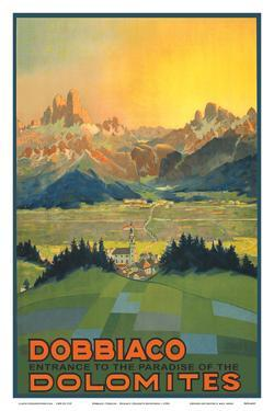 Toblach, Italy - Entrance to the Paradise of the Dolomites by Pacifica Island Art