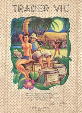 Trader Vic's Restaurant Menu - Honolulu, Hawaii by Pacifica Island Art