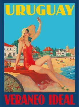 Uruguay - Ideal Summer (Veraneo Idéal) - Montevideo Beach Bathing Beauty by Pacifica Island Art