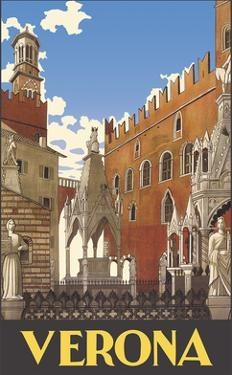 Verona, Italy - Piazza delle Erbe Square by Pacifica Island Art
