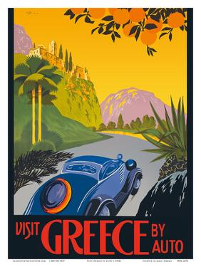 Visit Greece by Auto - Automobile and Touring Club of Greece by Pacifica Island Art