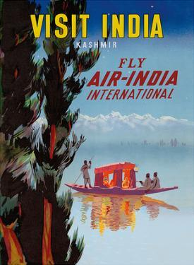 Visit India - Kashmir - Fly Air India International by Pacifica Island Art