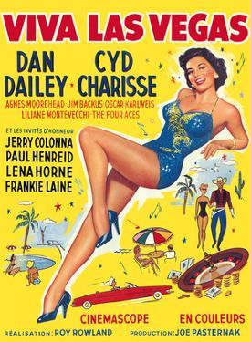 Viva Las Vegas (Meet Me in Las Vegas) - starring Dan Dailey, Cyd Charisse by Pacifica Island Art