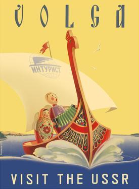 Volga - Visit the USSR - Russian River Cruise by Pacifica Island Art