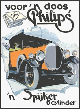 Voor 'n Doos Philips Cigarettes - Spyker 6 Cylinder Sports Car by Pacifica Island Art