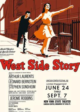 West Side Story - Starring Natalie Wood and Richard Beymer - New York Theater, Lincoln Center by Pacifica Island Art