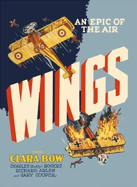 Wings - An Epic of the Air - Starring Clara Bow and Gary Cooper by Pacifica Island Art