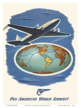 World Route - Pan American World Airways by Pacifica Island Art