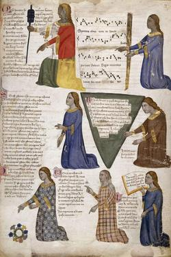 The Seven Liberal Arts (From Regia Carmina by Convenevole Da Prat) by Pacino Di Buonaguida