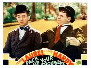Pack Up Your Troubles, L-R: Stan Laurel, Oliver Hardy on Lobbycard, 1932