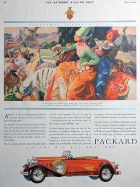 Packard Car Advert, 1930