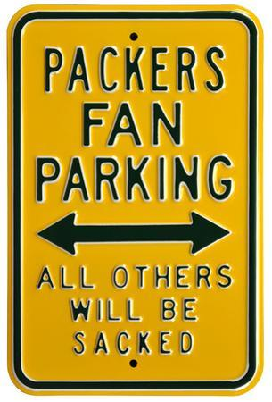 Packers Sacked Parking Steel Sign
