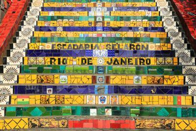 Tiled Steps at Lapa in Rio De Janeiro Brazil by padchas