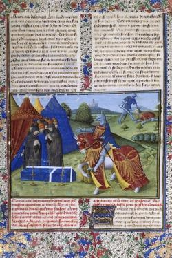 Page from Le Livre De Lancelot Du Lac (The Book of Sir Lancelot of the Lak), 15th Century