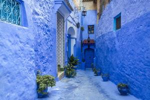 Traditional Moroccan Architectural Details in Chefchaouen, Morocco, Africa by Pagina