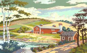 Paint by Numbers, Farm Scene Number One