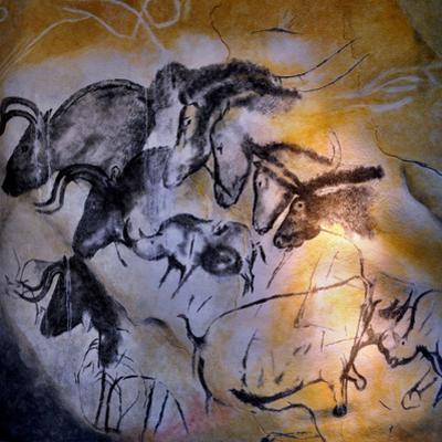 Painting in the Chauvet Cave, 32,000-30,000 Bc