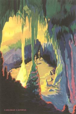Painting of Carlsbad Caverns, New Mexico