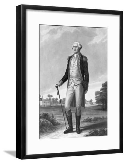 Painting of George Washington by George Hicks--Framed Giclee Print