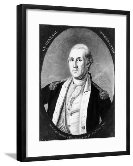 Painting of George Washington--Framed Giclee Print
