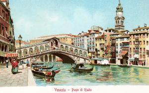 Painting of Rialto Bridge, Venice, Italy