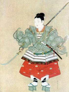 Painting Showing Japanese Samurai Warrior in Full Regalia