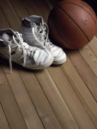 Pair of Boots with a Basketball