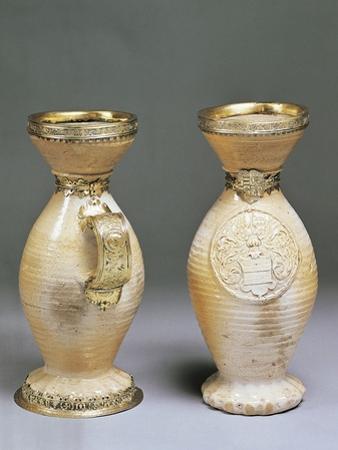 Pair of Mugs Bearing Coat of Arms