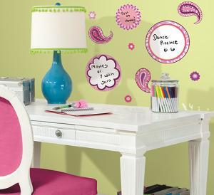Paisley Dry Erase Peel & Stick Wall Decals