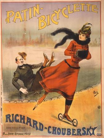 Patin-bicyclette - Richard-Choubersky, 1890