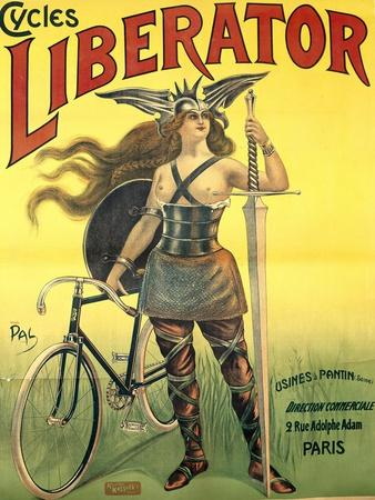 Poster Advertising 'Cycles Liberator' from Pantin, Printed by Kossoth Et Cie, Paris