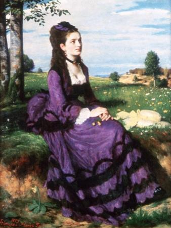 Lady in Violet, 1874 by Pal Szinyei Merse