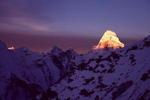 Sunrise at Mt. Ama Dablam by Pal Teravagimov Photography