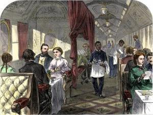 Palace Hotel Dining Car on the Union Pacific Railroad, 1869