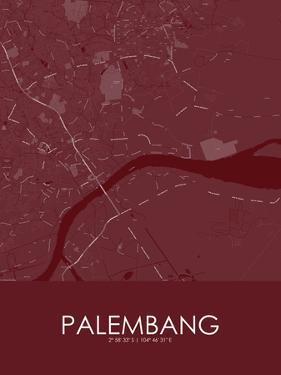 Palembang, Indonesia Red Map