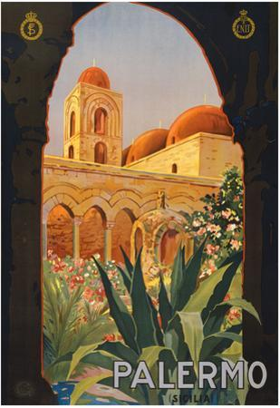 Palermo Sicily Tourism Travel Vintage Ad Poster Print