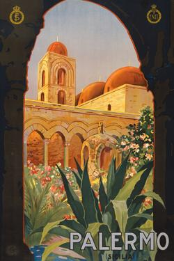 Palermo Sicily Tourism Travel Vintage Ad