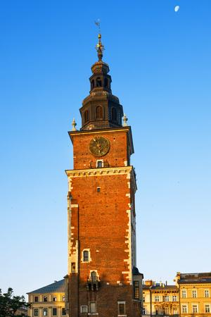 Morning in Krakow Main Market Square