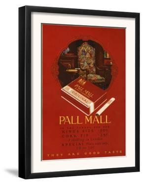 Pall Mall, Magazine Advertisement, UK, 1920